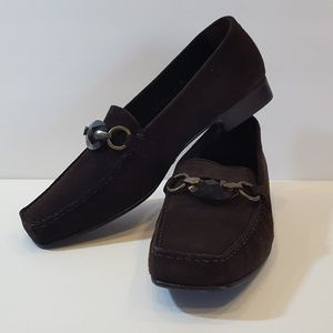 Stuart Weitzman Suede Slip on Loafers Shoes